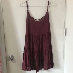 Brandy Melville burgundy Jada dress